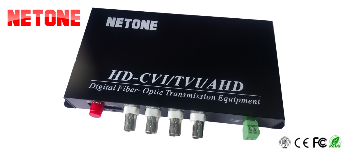 Video converter HD Netone NO-VCF 4VH 1D-T/R  Hỗ trợ data RS485