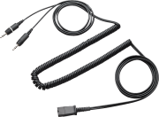 Quick Disconnect cable 3.5mm dual